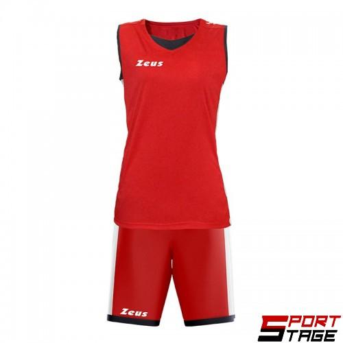 Баскетболен Екип ZEUS Kit Flora Woman Rosso