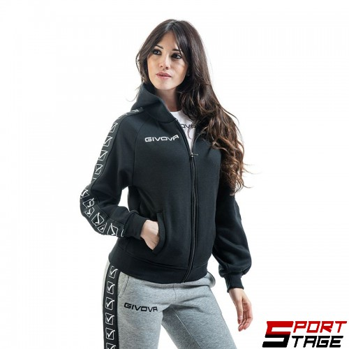 Дамски Суичър GIVOVA Felpa Full Zip Band 0010