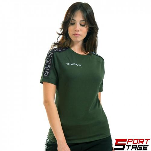 Дамска Тениска GIVOVA T-Shirt Cotton Band 0051