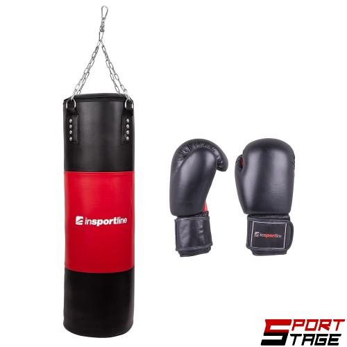 Боксов чувал inSPORTline 50-100 кг. с боксови ръкавици