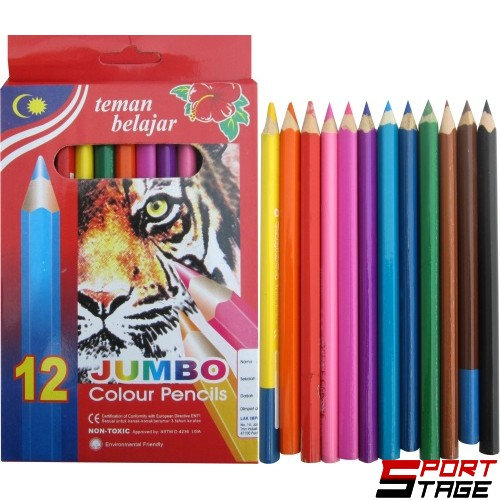 Моливи 12 цвята JUMBO