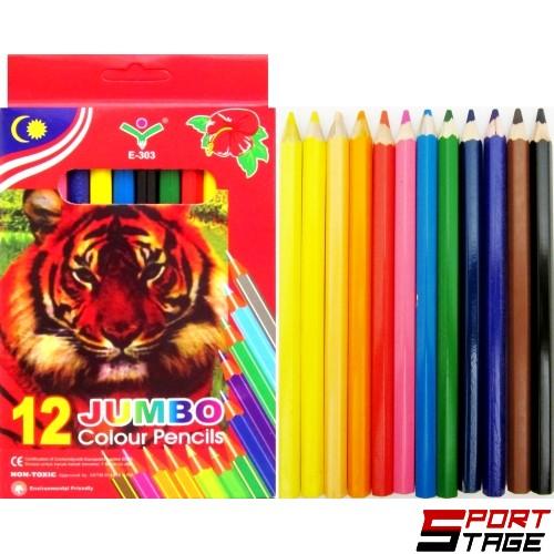 Моливи 12цвята Джъмбо 5мм графит