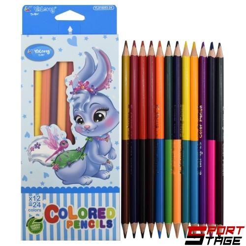 Цветни моливи DUO 12 броя/24 цвята