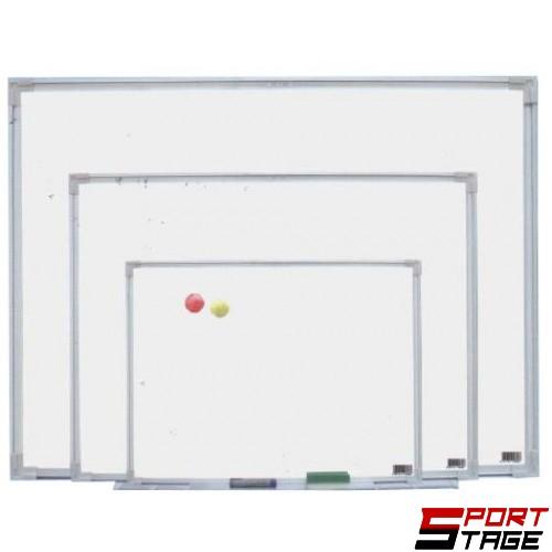 Бяла магнитна дъска, 240x120 см, С метална рамка