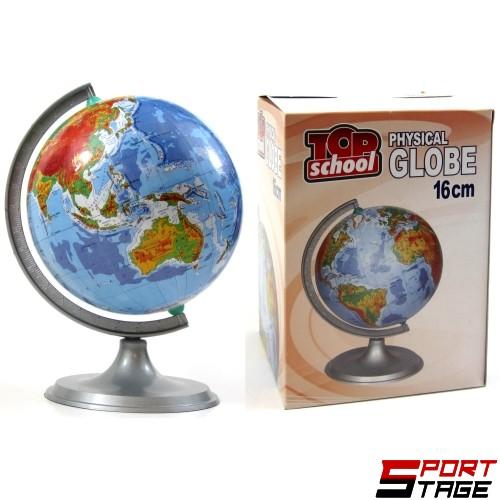 Физически глобус, ф16см (150215)