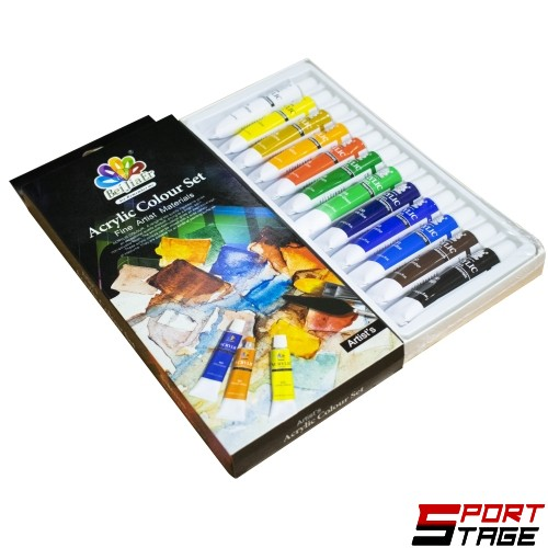 Акрилни бои 12 цвята в туби