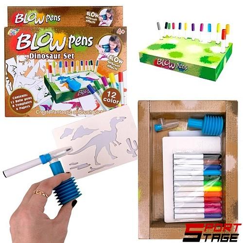 Рисувателен комплект Blow Pens Динозаври