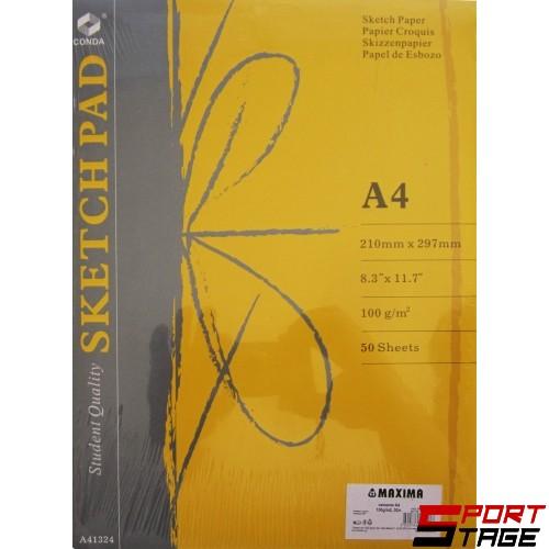 Блок листа за скици A4, 100g/m2, 50л