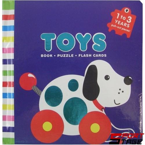 Бебешка книжка от картон и ЕVA животни и играчки за учене на цветовете