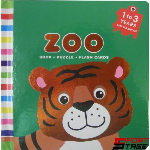 Бебешка книжка от картон и ЕVA животни за учене на цветовете