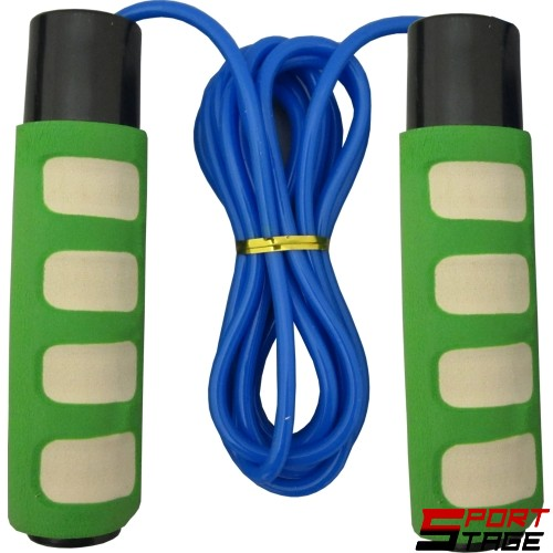 Въже за скачане с дължина 2.8м, плътна връв и тежести в дръжките