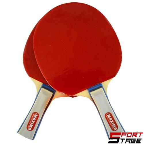 Хилки за тенис на маса комплект 2 броя в калъф MAXIMA