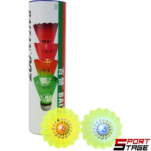 Перца за федербал 4 бр. светещи от найлон с коркова глава