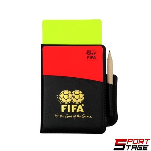 Съдийски картони с бележник и молив FIFA