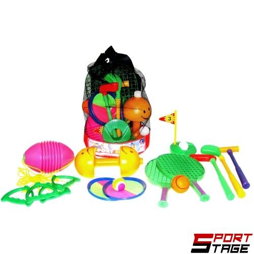 Играчки за спорт в сак