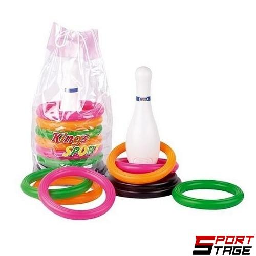 Спортен комплект с рингове и кегла
