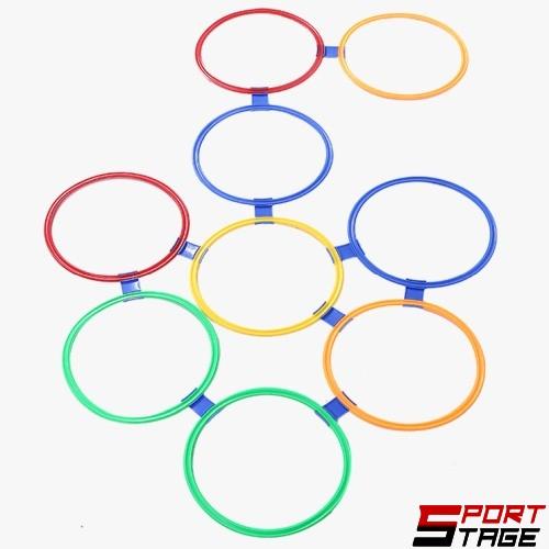 Колективна игра Дама / Туистър с 10 плоски ринга и конектори