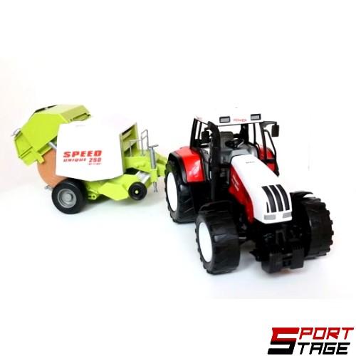 Трактор с ремарке и маховик