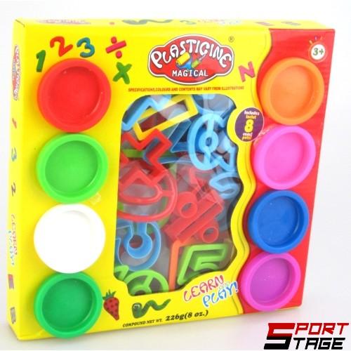 Пластилин 8 цвята с 21 формички