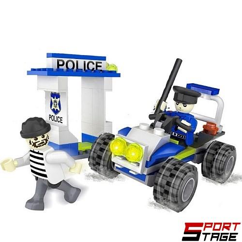 Конструктор CITY Полицай със затворник от 81 елемента