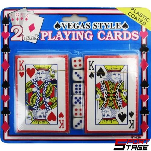 Карти за игра две тестета с 6 зарчета на блистер
