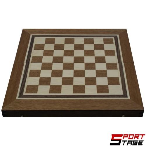 Шах и табла фурнир махагон/дъб 48 см