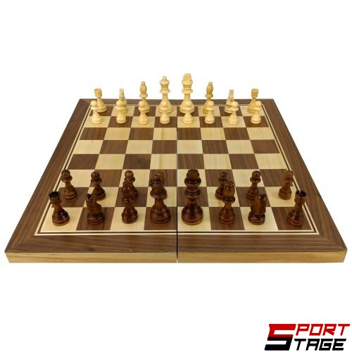Шах и табла MAXIMA, Интарзия, 49х49 см, Фигури 5-9 см