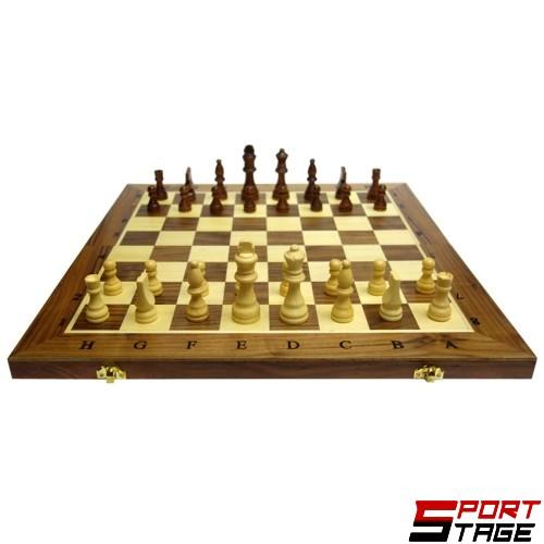Шах и табла MAXIMA дървен 39см, фигури 3.5-8см