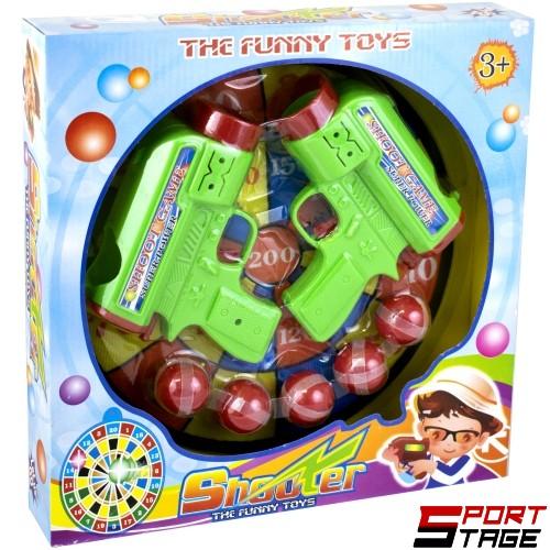 Комплект пистолети с лепящи топчета и мишена