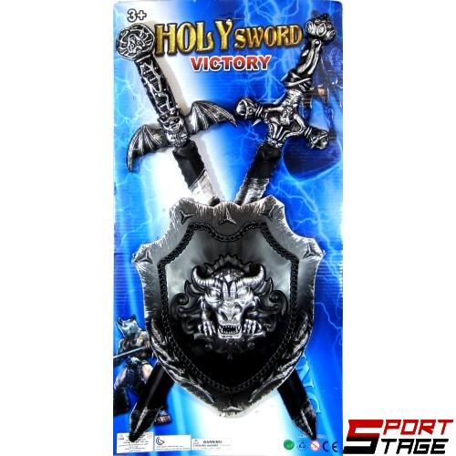 Оръжия комплект щит и 2 меча