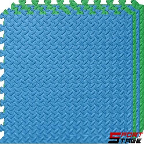 Настилка ЕVA, 63х63х1.3 см, 4 броя в комплект, 2 зелени, 2 сини