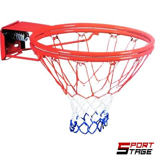 Баскетболен кош 45см с двоен гъвкав ринг с 1 пружина и мрежа