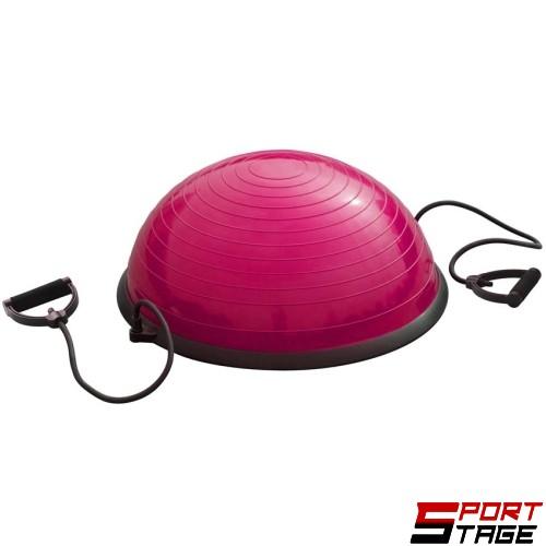 Полутопка за баланс BOSU ball 60 см с твърда PVC основа и ластици