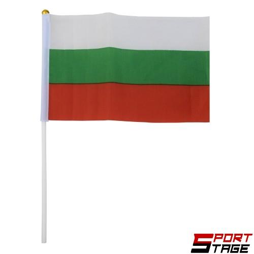 Знаме на България 20х15 см с дръжка