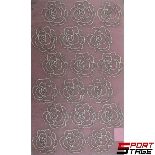 Декорация рози с блестящи камъчета за дрехи
