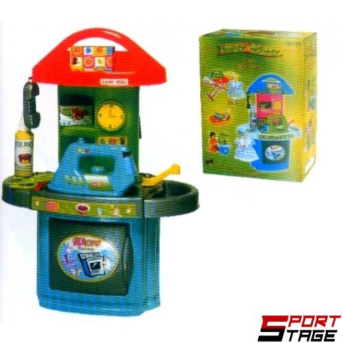 Детски комплект за игра MAXIMA, Кухня, Пералня и Дъска за гладене