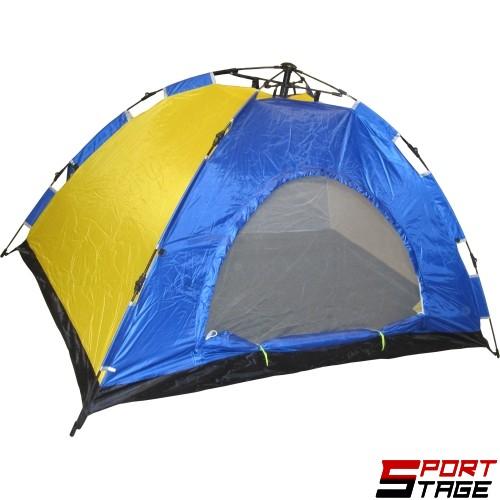 Палатка двуместна, еднослойна, автоматична