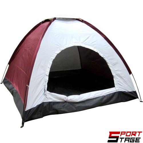 Палатка триместна (еднослойна) 190x190x138см
