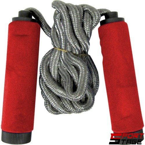 Въже за скачане, 3 метра, плетено, неопренови дръжки