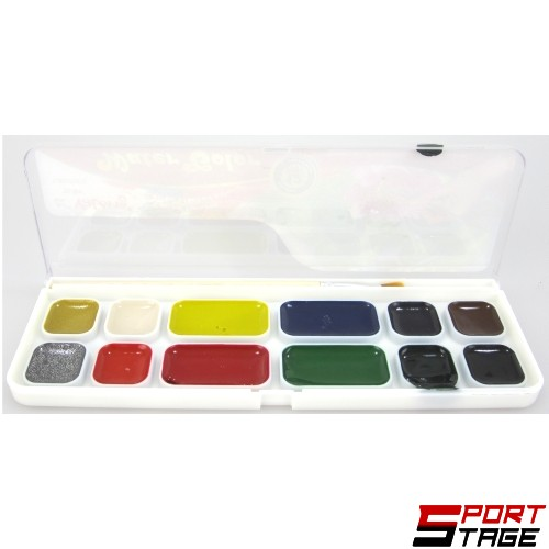Водни бои 12 цвята, меден акварел