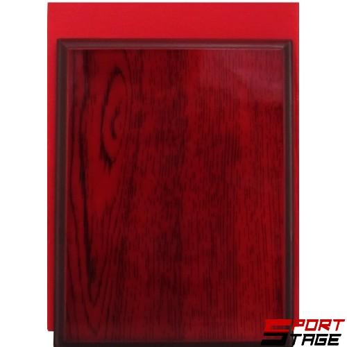 Дървен плакет 12х17см в червена картонена кутия