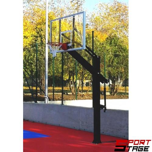 Баскетболна конструкция фиксирана регулируема- табло 1.20x0.95м.