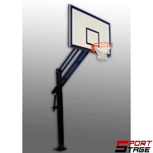 Баскетболна конструкция фиксирана регулируема - табло 1.50 x 0.95м.