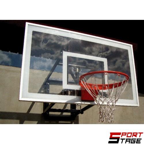 Баскетболно табло от поликарбонатно стъкло или темперирано стъкло с метална рамка (за вътрешен или външен монтаж)