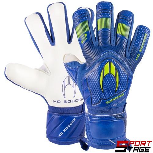 Вратарски Ръкавици HO SOCCER Clone Supremo II Negative Blue